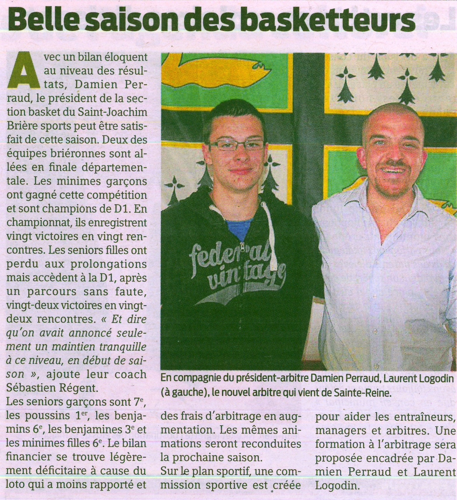 belle saison des basketeurs