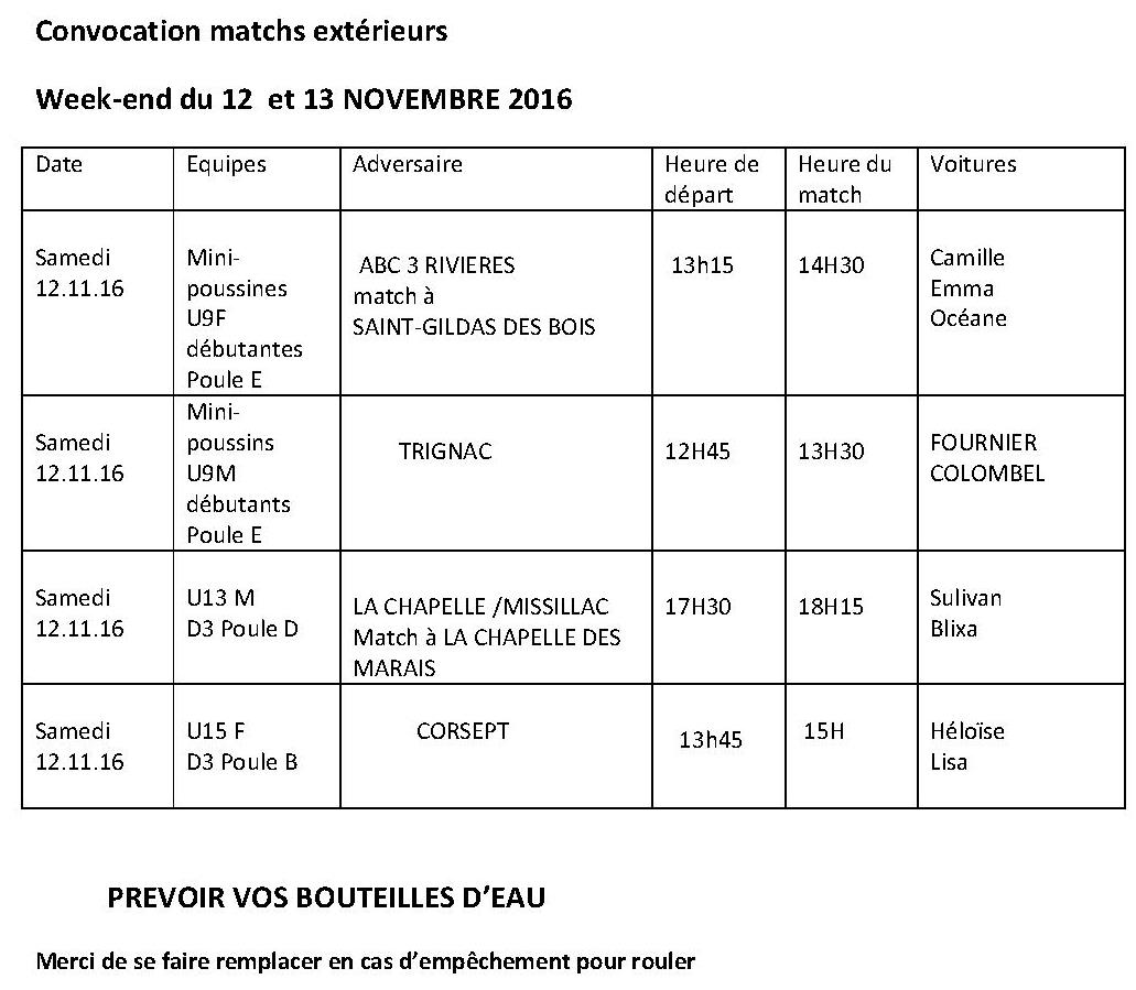 convocations extrieurs 12-13 novembre