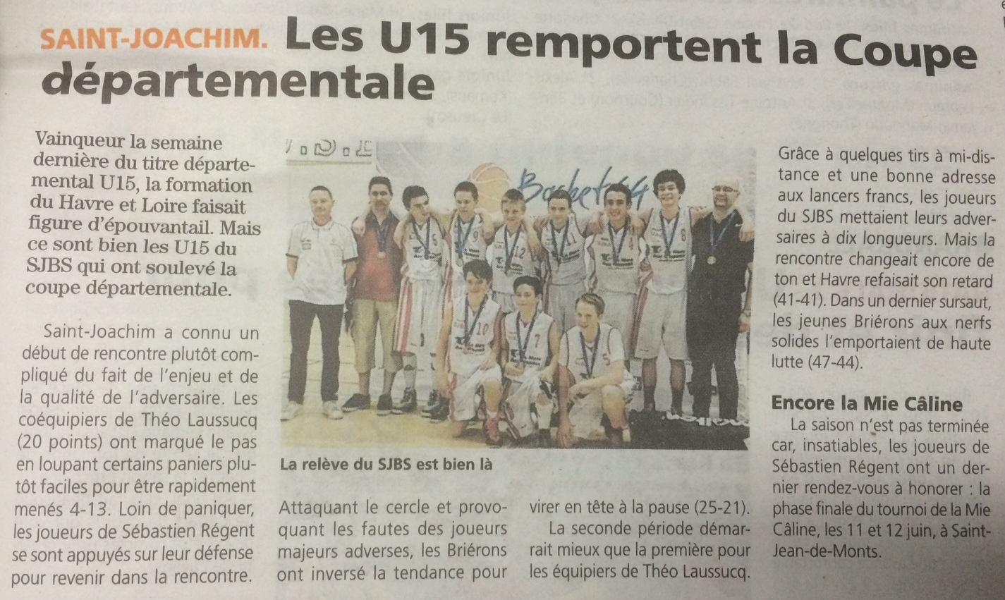 u15 coupe dpartementale